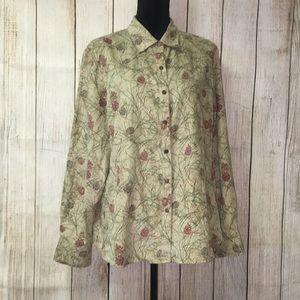Super soft Pine cone  shirt XL